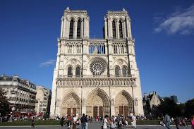 david joyal view of the beautiful and famous west facade of notre dame cathedral cathacdrale de notre dame