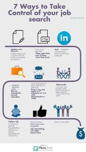 ways to take control of your job search infinitesinfinites search infographic