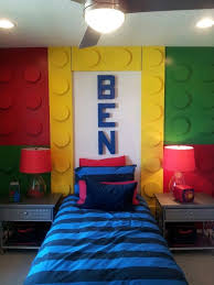 themed kids room designs cool yellow: a cool and customized lego room  best lego room designs http