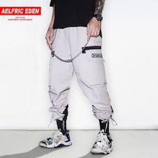 Купить Aelfric Eden Hip Hop Color Block Chain Pockets Harem ...