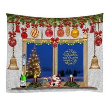 Generic <b>Christmas</b> Tapestries <b>Wall Hanging Art</b> Tapestry Polyester ...