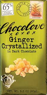 Chocolove Ginger Crystallized in Dark Chocolate Bar, 3.2 oz - QFC