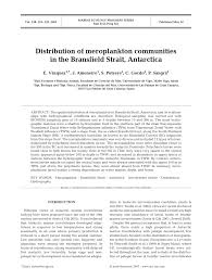 (PDF) Distribution of meroplankton communities in the Bransfield ...