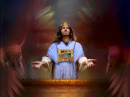 Image result for Christ standing at throne