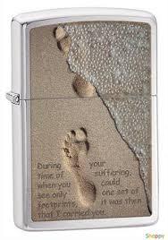 <b>Зажигалка бензиновая</b> Zippo <b>Footprint</b> in sand - интернет-магазин ...