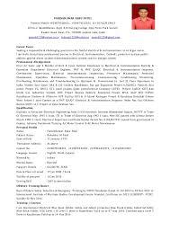 cv electricalcv electrical  pareshkumar babu patel present mobile           amp     a