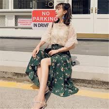 <b>Summer Bohemian Skirt</b> Floral Printed A Line Midi tutu <b>Skirts</b> ...