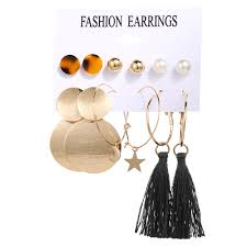 17KM Tassel <b>Acrylic Earrings</b> For Women <b>Bohemian Earrings</b> Set ...