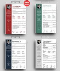 professional resume cv templates colored column cv template