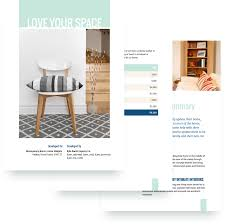 interior design quote templates interior design proposal template sample