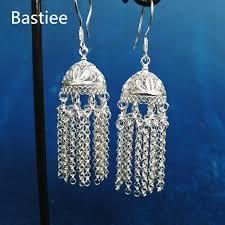 <b>Bastiee</b> 999 Sterling Silver <b>Mongolia Hat</b> Tassel Earrings For ...