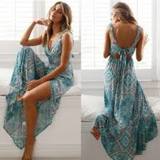 <b>Women Sexy Backless</b> Dress 2020 Summer Bohemian Floral <b>Print</b> ...