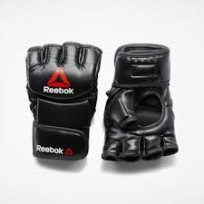 Reebok <b>Перчатки</b> Combat Leather <b>MMA</b> - размер S - черный ...
