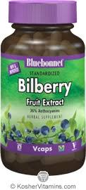 Bluebonnet <b>Standardized Bilberry Fruit Extract</b> 80 Mg Vegetarian ...