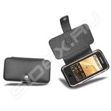 Кожаный <b>чехол для Samsung SGH</b>-<b>F700</b> (Noreve) (черный ...