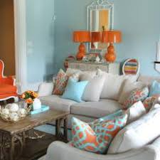 transitional living room with tropical color palette beige sectional living room