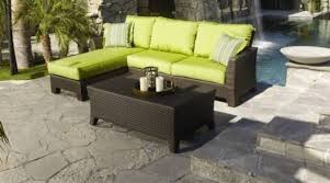 shaped wicker patio sectional black