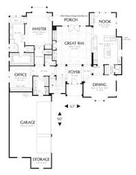 ideas about L Shaped House on Pinterest   L Shaped House    Main Floor Plan of Mascord Plan   The Marlow   L Shaped Cape Cod