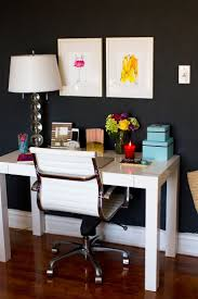 1000 ideas about white lacquer desk on pinterest high gloss paint desk with drawers and desks black white home office cococozy 5