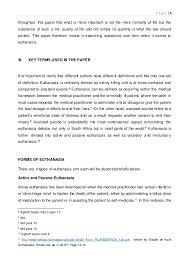 Euthanasia Persuasive Essay Sample