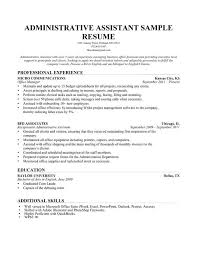 Administrative Assistant Resume Example | Write Yours Today Administrative Assistant Resume Sample