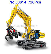 <b>38014 720pcs technic</b> city excavator <b>lele</b> 8043 building block Toy-in ...