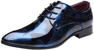 <b>Mens Business Shoes Dress</b>, Pointed Toe Lace Up Leather Oxford ...