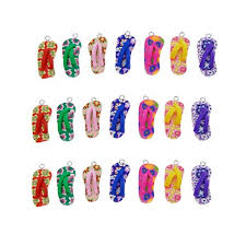 Julie Wang 40pcs Polymer Clay Flip Flop <b>Charms for Jewelry</b> ...