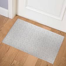 <b>ABSTRACT</b> LEAF GREY Indoor <b>Floor Mat</b> By Becky Bailey ...