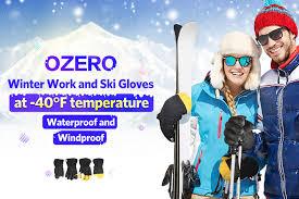 OZERO Winter <b>Ski Gloves</b> Men's Skiing <b>Snowboard</b> Snowmobile ...