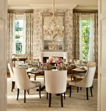 Transitional Dining Room Furniture Dining Gorgeous Dining Room Gold Chandelier Floral Wallpaper