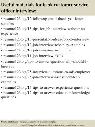 Top   bank customer service officer resume samples SlideShare