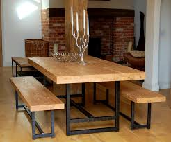 small dining bench:  fascinating benches kitchen special offer for set reclaimed wood and iron dining bench back table p