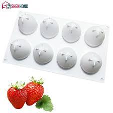 SHENHONG <b>Fruit Strawberry</b> Silicone Mousse <b>Mold</b> For Baking ...