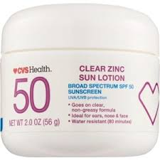 <b>Clear Zinc Sunscreen</b> SPF 50, 2 OZ (CVS Health)