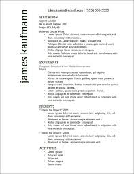 Resume Examples. Resume Templates Best: bachelor-of-arts-education ... ... Resume Examples, Relevant Course Works In Resume Templates Best For General Jobs: Resume Templates ...