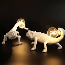 Nordic lizard Night light <b>modern</b> Cute <b>LED Resin</b> Animal chameleon ...