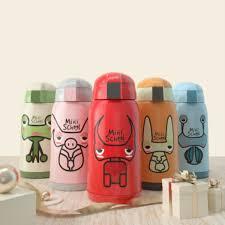 Babysing <b>500ML Cartoon</b> Children <b>Water</b> Bottle Kids Straw <b>Thermos</b> ...