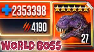 insane world boss t rex omega max level jurassic world the insane world boss t rex omega 09 max level jurassic world the game