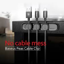 SPEED <b>BASEUS Peas Cable Clip</b> Magnetic USB Cord Holder Wire ...