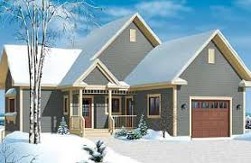 One Story house plans   garage  amp  One Level homes   garage    Vistas Covered terrace  to bedroom  walkout basement  chalet cottage house