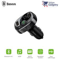 <b>Baseus</b> FM Transmitter Modulator Handsfree Bluetooth MP3 Car ...