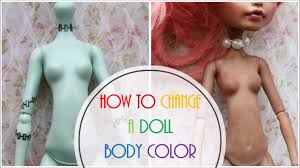 How to Change <b>Doll</b> Body Skin Color / Blush Monster High Body ...