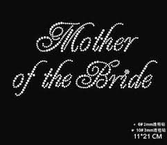 2pc/<b>lot</b> Mother of the bride motif designs iron on transfer rhinestones ...