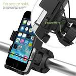 iOttie One-Touch Bike Mount Holder iPhone 6-5s-5c-4s Samsung Galaxy S5-S4 Google Nexus 5 - Retail Packaging - Black