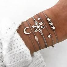 <b>Женский браслет в</b> виде снежинок и Луны RONGBIN, браслеты ...