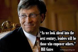 Satya Nadella moet proberen de schoenen te vullen van Bill Gates - quotes-of-bill-gates-5