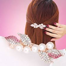 High Quality Hot Sale 1PC 8 <b>Color Butterfly</b> Orchid Hair Clip Artificial ...