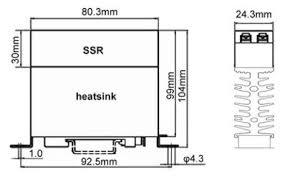 din rail mount solid state relay solid state contactor outline dimensions wiring diagram