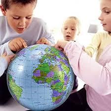 "MentorKids 12"" PVC <b>Inflatable Globe</b> Beach Ball <b>World</b> Globes <b>Earth</b> ..."